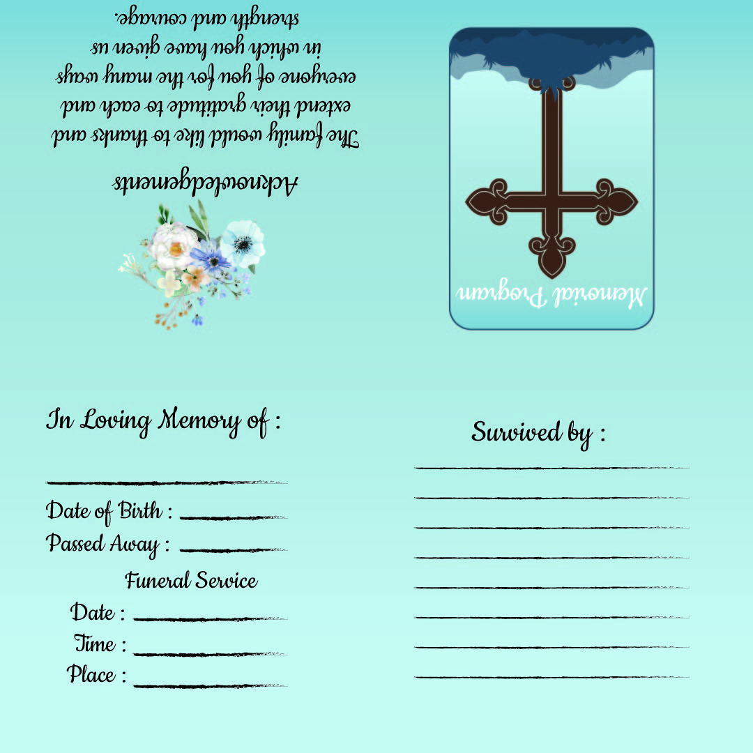 Memorial Cards For Funeral Template Free from www.printablee.com