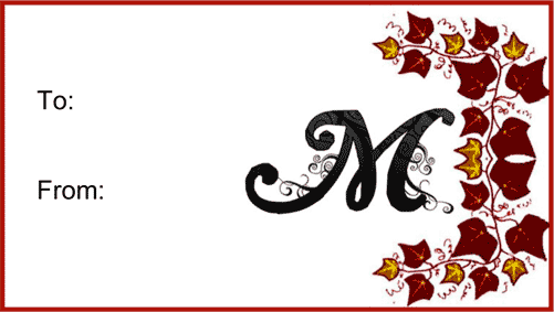Free Printable Monogram Letter M