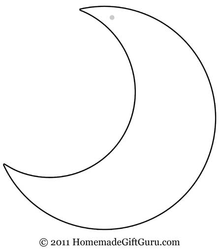 5 Images of Moon Templates Printable