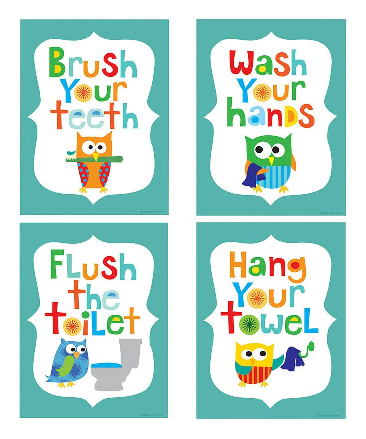 9 Images of Owl Bathroom Printables