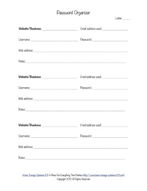 6 best images of password keeper printable form free printable password keeper free printable. Black Bedroom Furniture Sets. Home Design Ideas