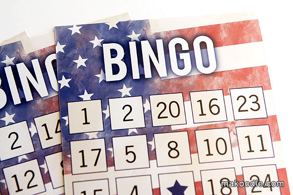 9 Images of Fourth Of July Bingo Printable