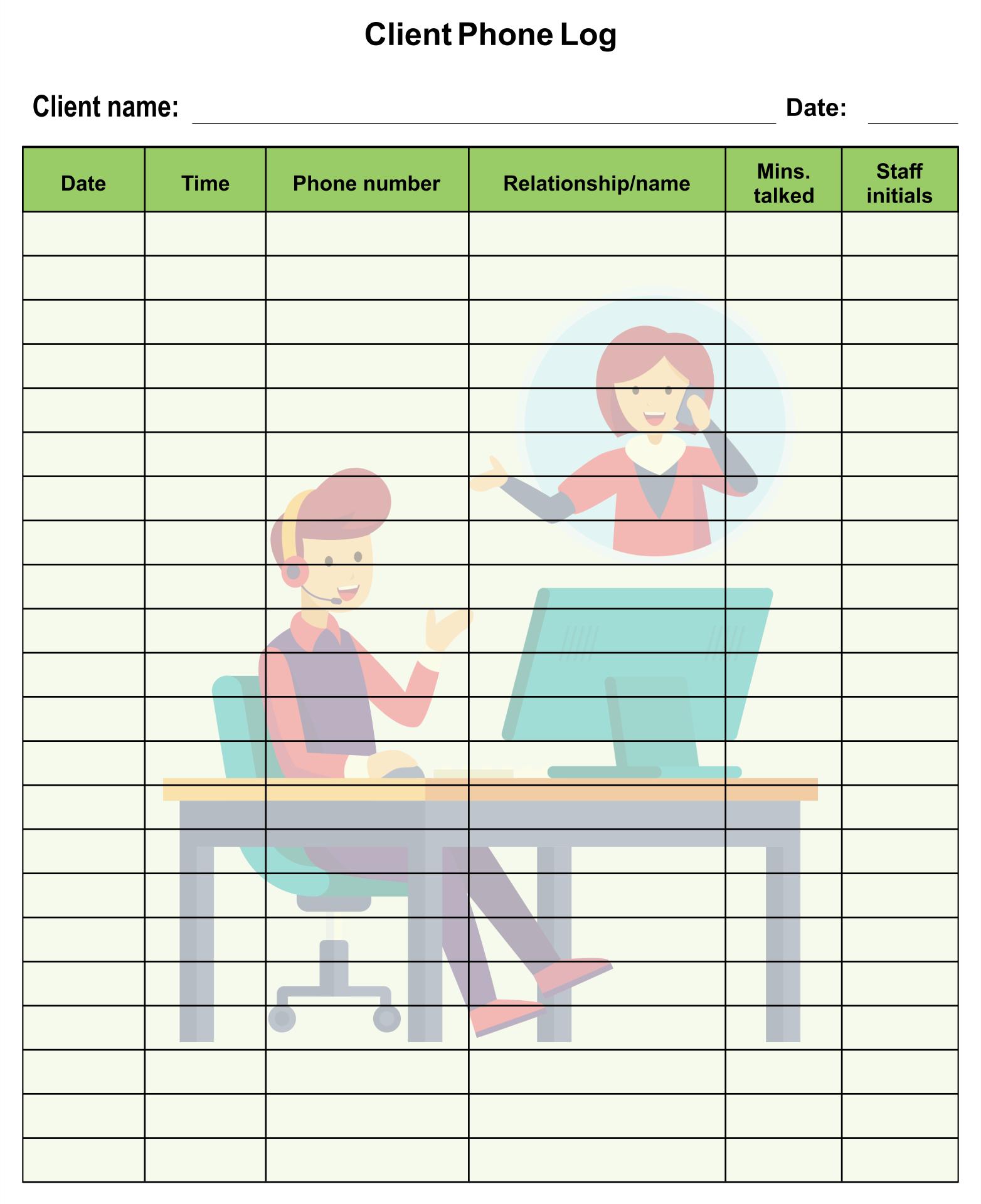9 Best Images Of Free Printable Phone Log Form Free Printable Phone Call Log Template Free Printable Call Log Template And Phone Call Log Sheet Templates Printablee Com