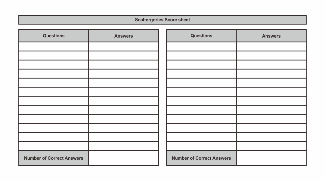 9 Best Scattergories Sheets Printable Printablee Com