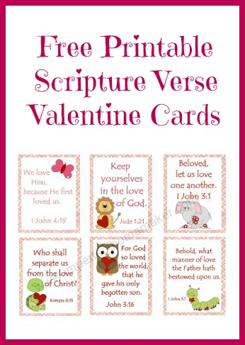 7 Images of Free Printables Valentine Cards Scripture