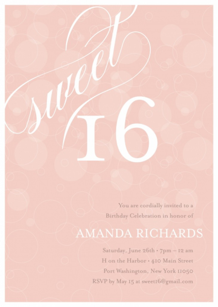 Sweet 16 Invitation Templates Free – Sweet 16 Birthday Invitation Templates
