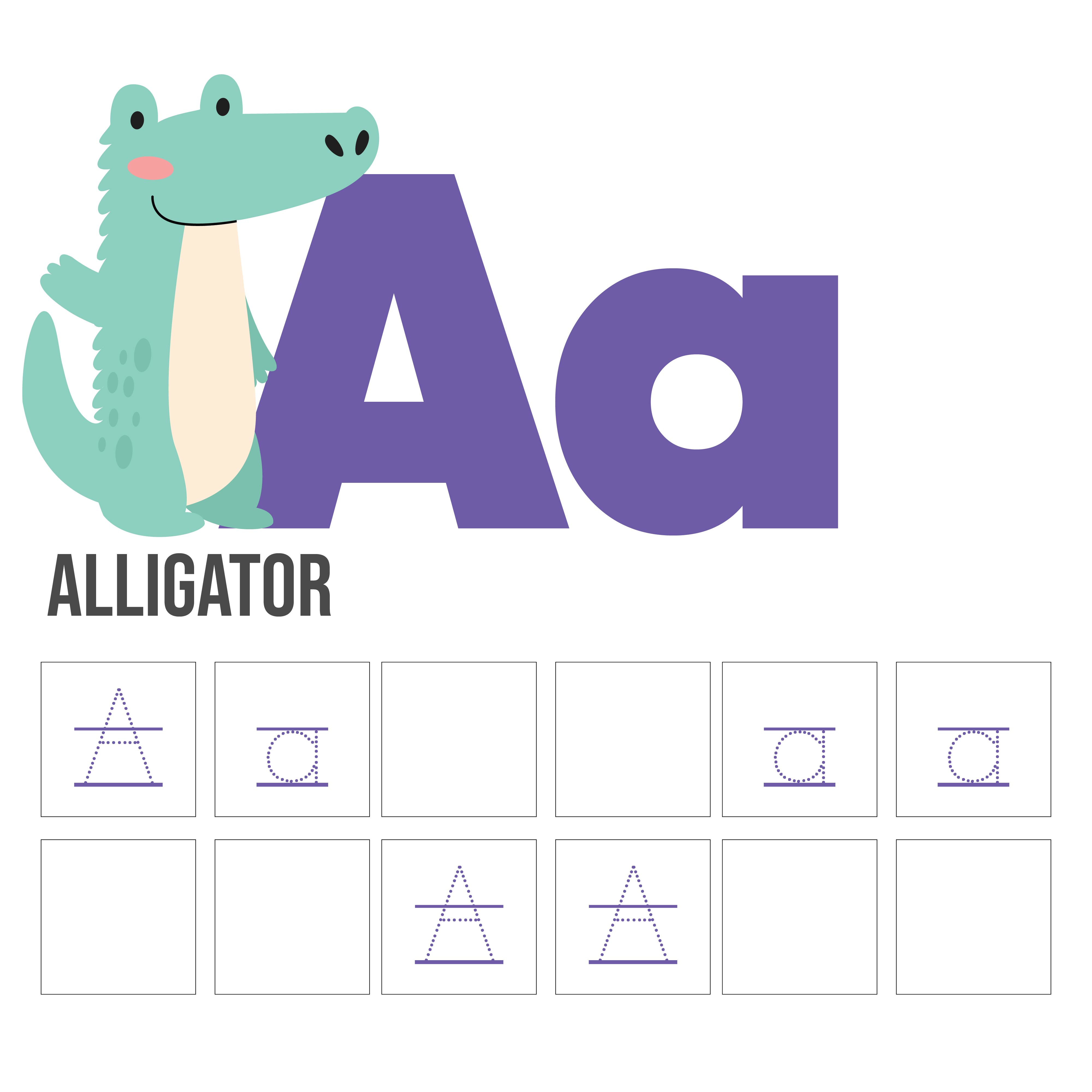 Printable Traceable Alphabet Letter Worksheets