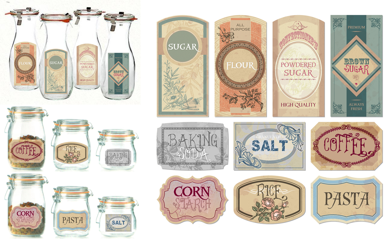 White Canisters For Kitchen 7 Best Images Of Free Blank Printable Vintage Jar Labels