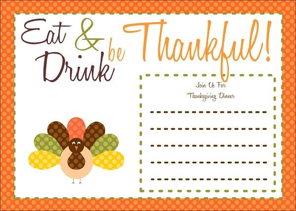 6 Images of Free Printable Thanksgiving Day Cards