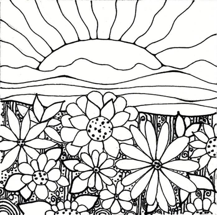 5 Images of Printable Garden Coloring Pages