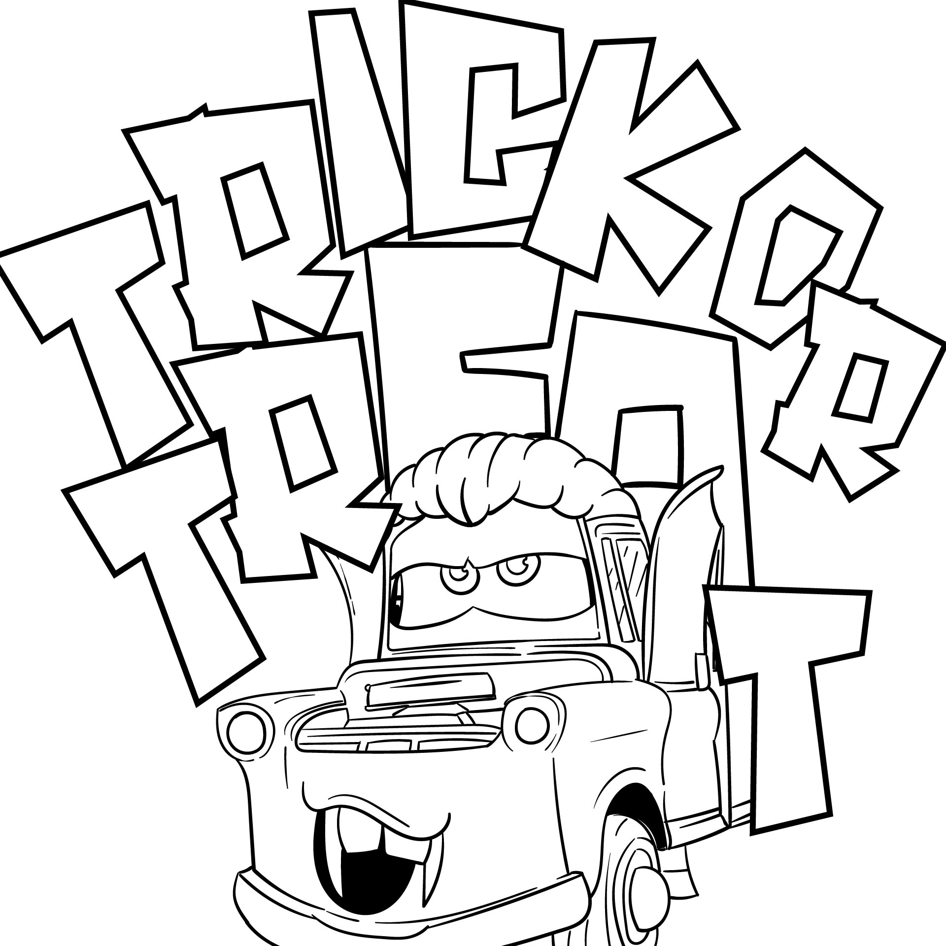 Halloween Trick or Treat Coloring Pages Printable