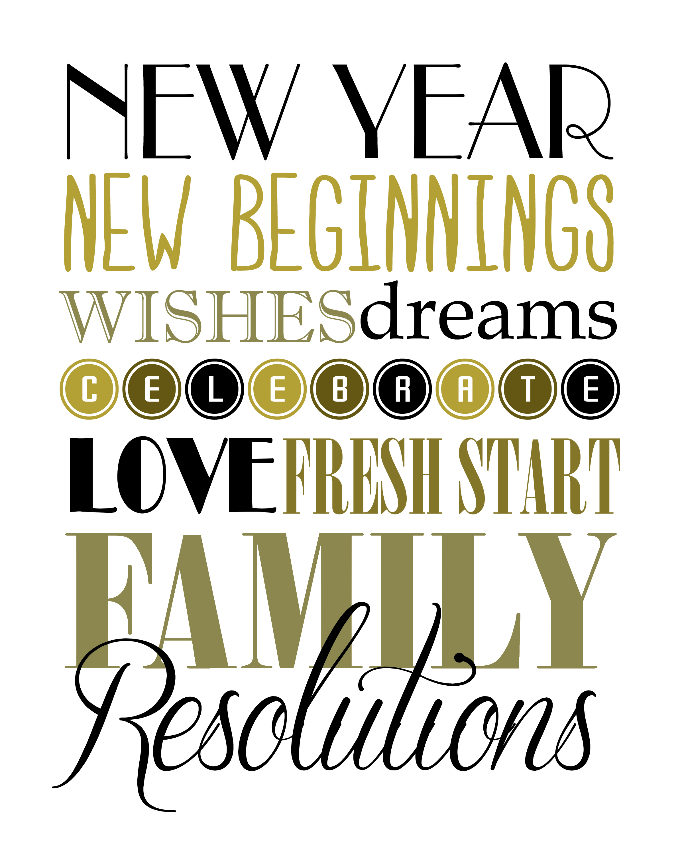6 Images of Free Printable Happy New Year