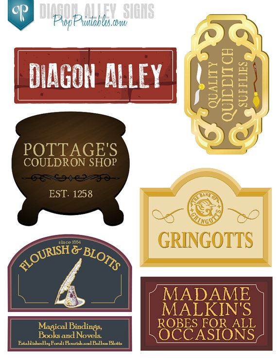 8 Images of Harry Potter Printable Signs