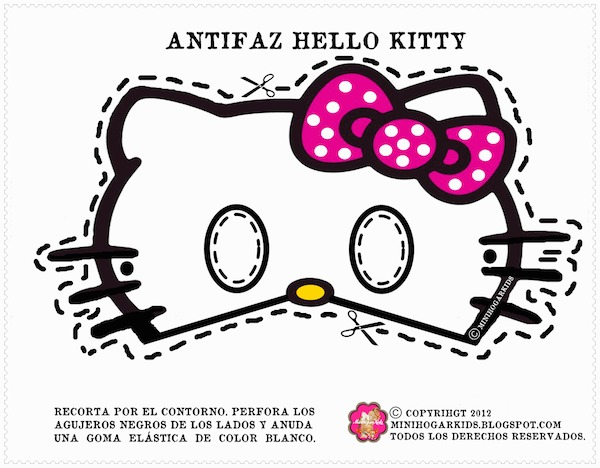 7 Images of Hello Kitty Mask Templates Printable Free