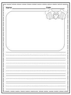 journal writing paper for kindergarten Journal writing is a way to encourage process writing which promotes a sense of story written interactions or dialogues between the child and the teacher.