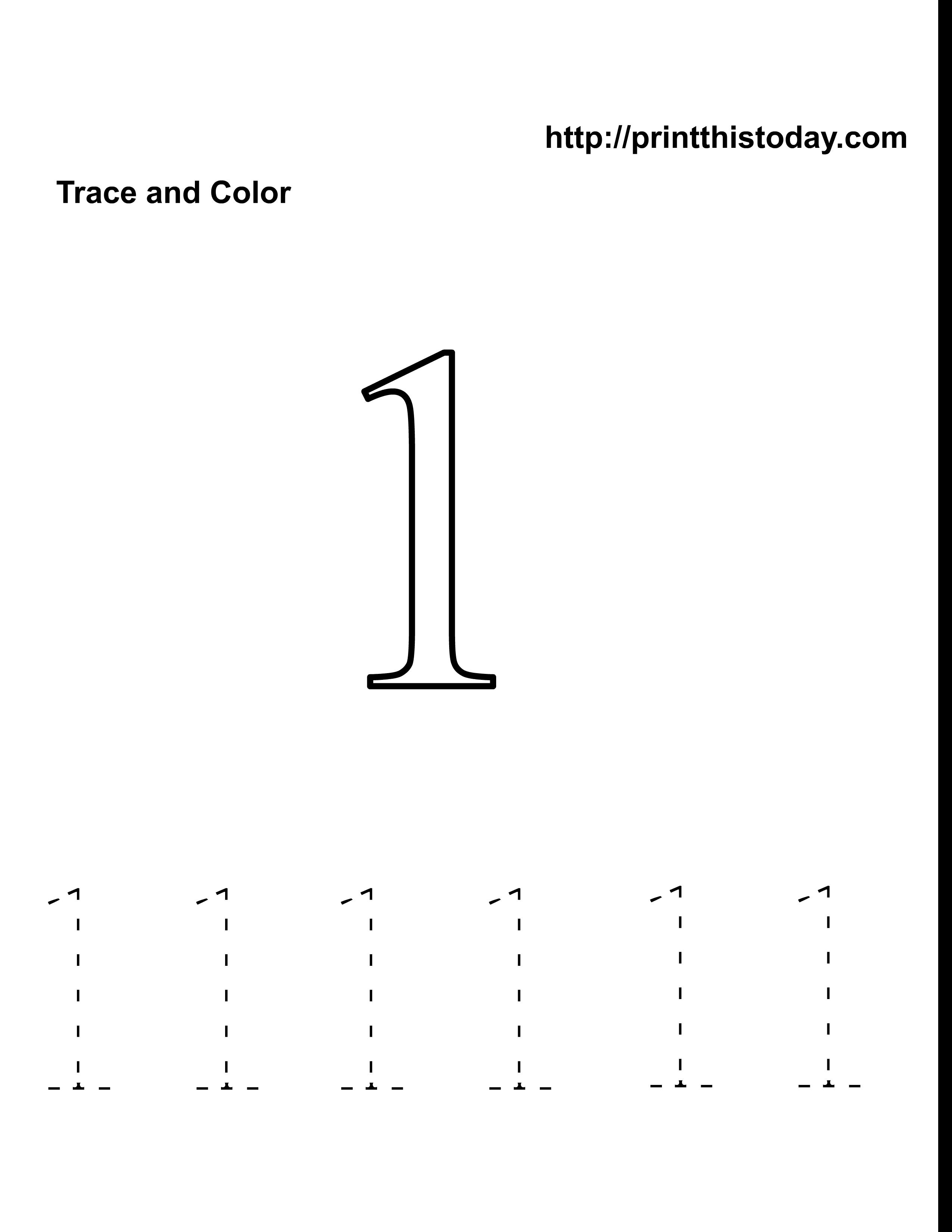 5 Best Images of Number 1 Worksheet Preschool Printable - Number ...