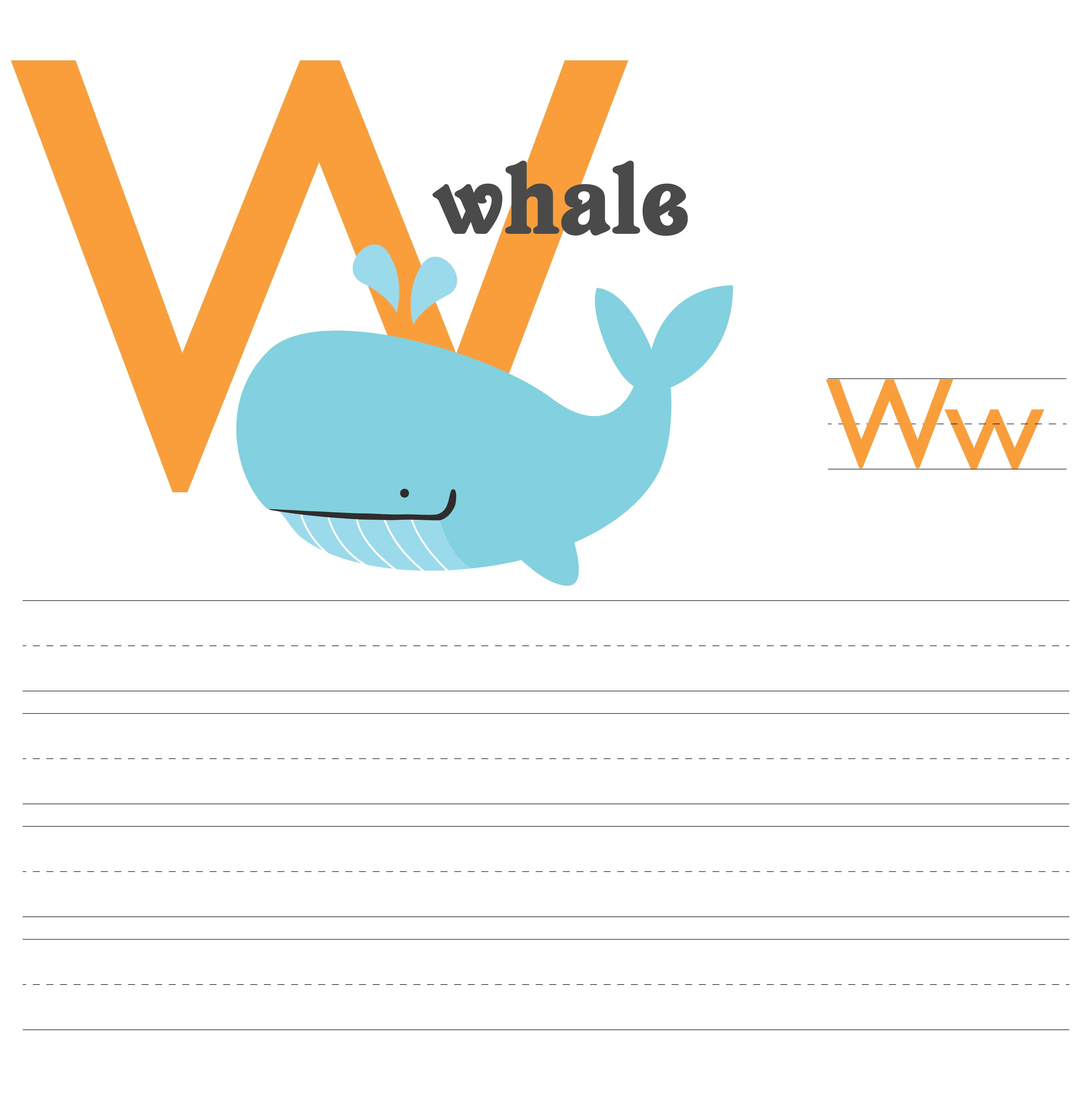 Letter W Printable Worksheets