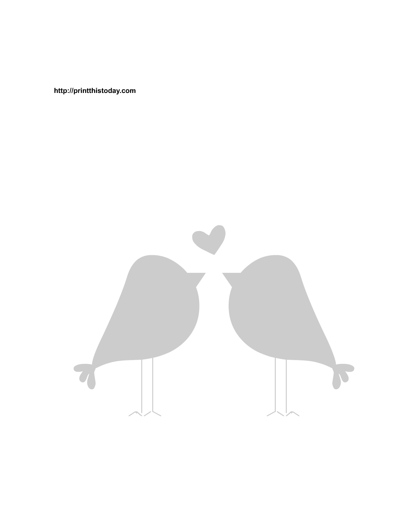 7 Images of Printable Love Birds Art