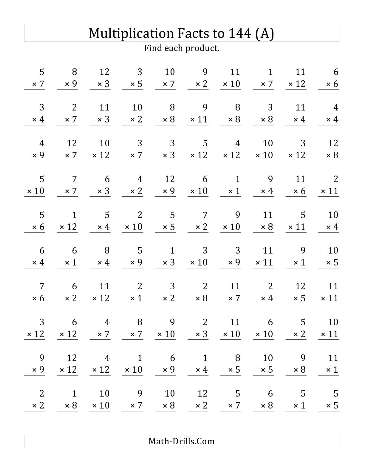 math worksheet : free printable math times table worksheets  math sheets : Multiplication Worksheets 8 Times Tables