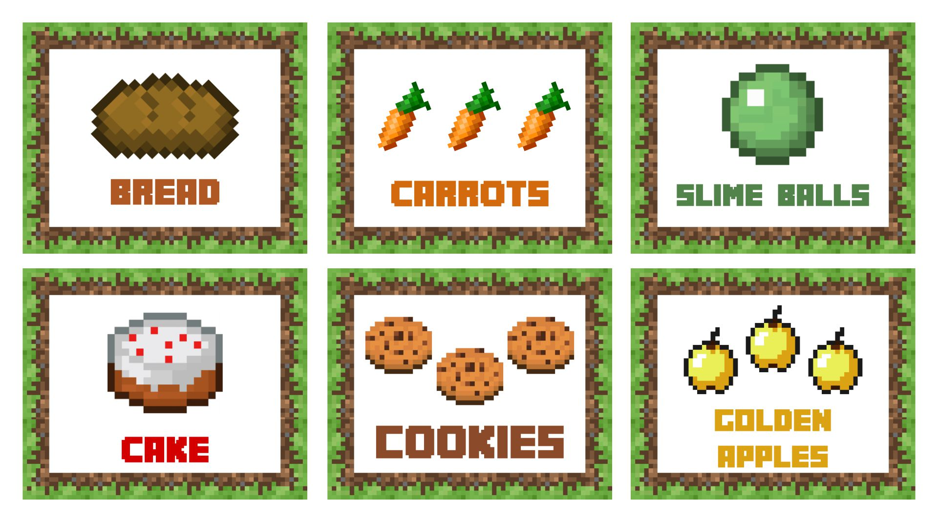 9 Images of Free Minecraft Printable Food Tents