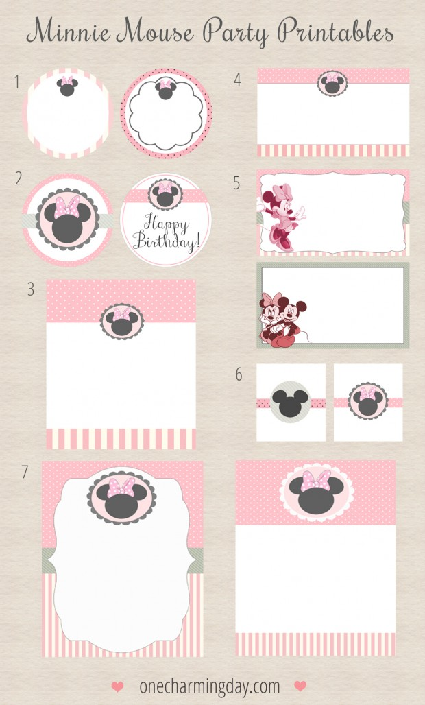 8 Images of Minnie Mouse Printables