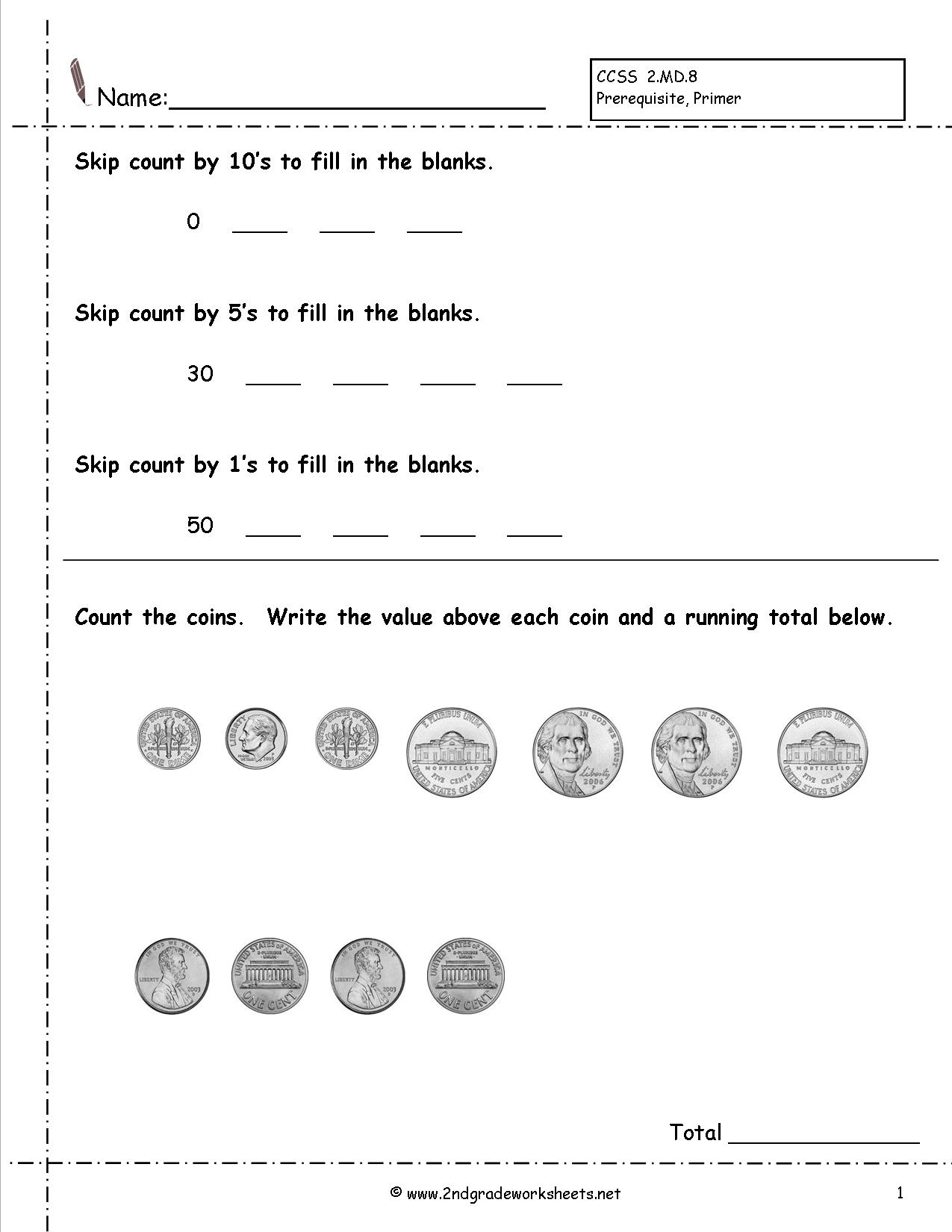 5 Images of Printable Coins Worksheets Floor