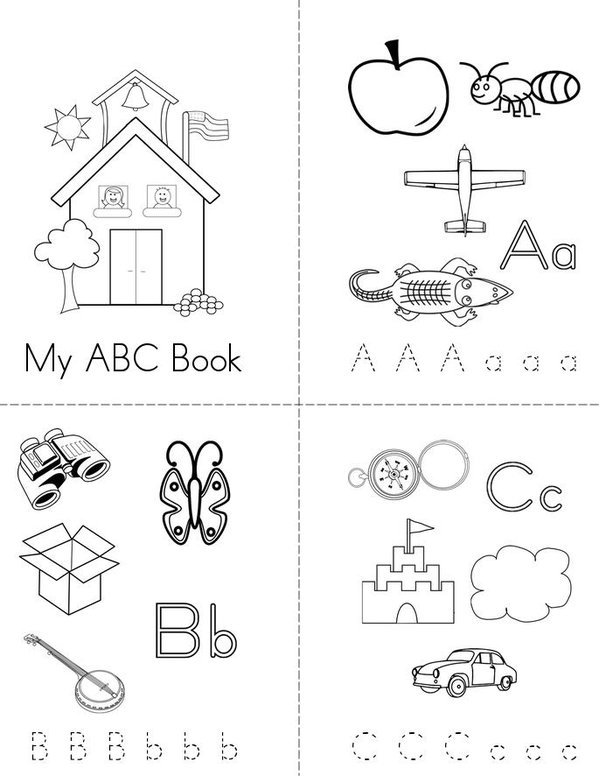 My Alphabet Book Printable Cover : Best images of christmas alphabet printable mini book