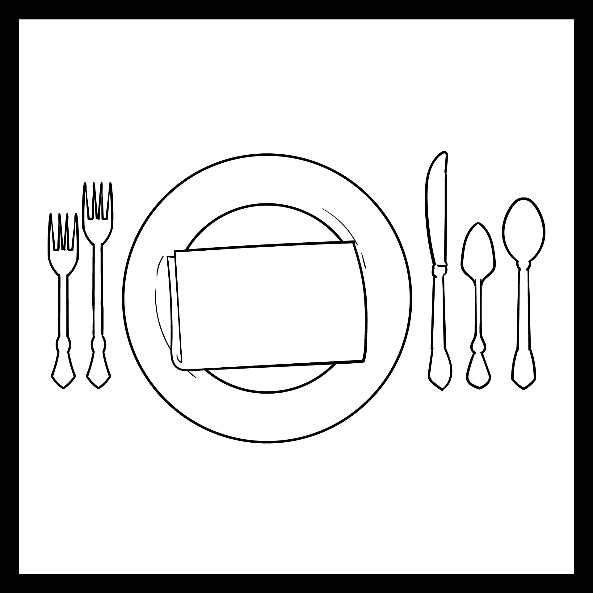 Preschool Table Manners Coloring Pages