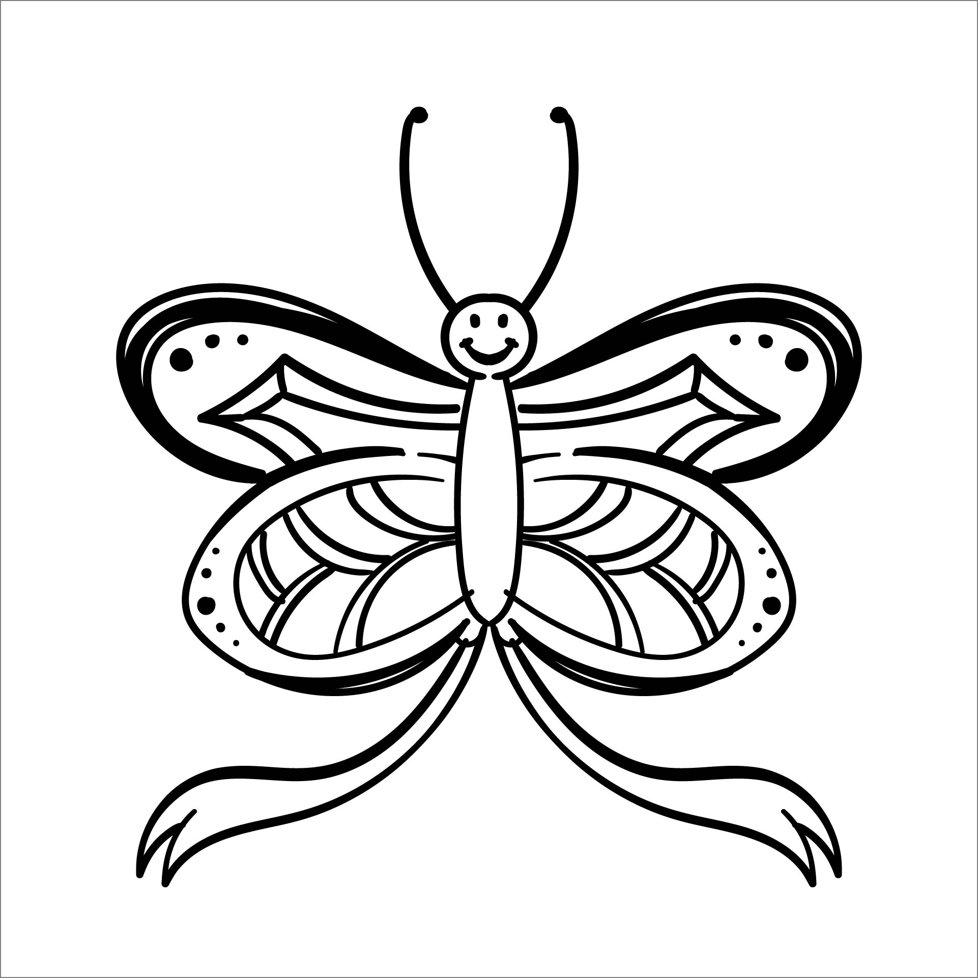 Printable Butterfly Coloring Pages Paisley