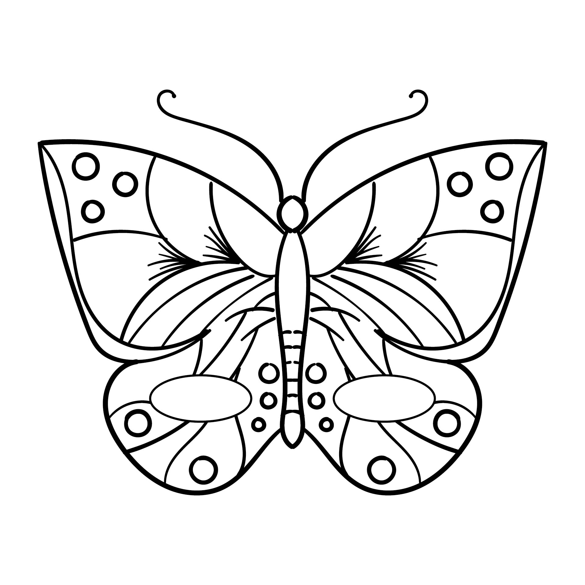 Printable Butterfly Mask Coloring Pages
