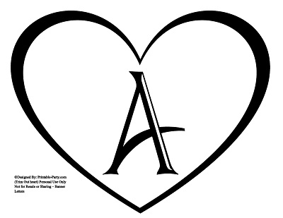 7 Images of Fancy Alphabet Letters Printable Heart