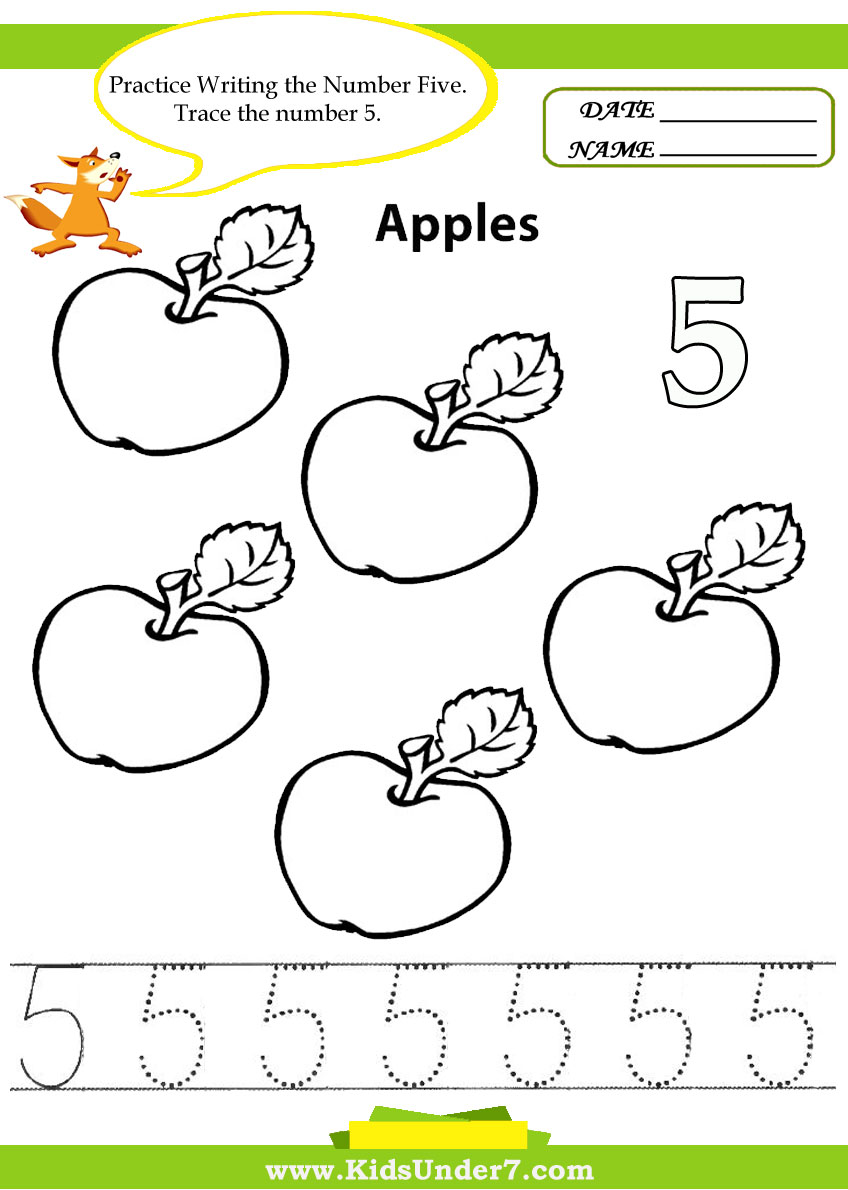 K 5 Worksheets : Pre k number tracing sheets letters numbers and shapes