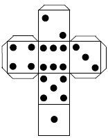 7 Images of Printable Dice Template With Dots