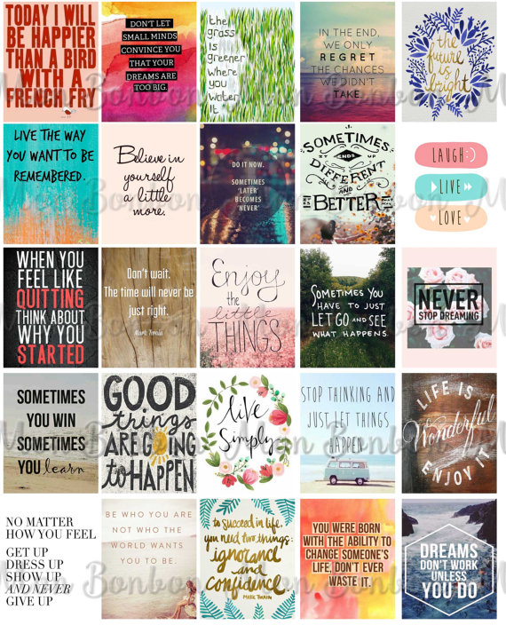 8 Images of Motivational Printable Planner Stickers