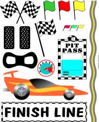 7 Images of Free Printable Race Car Track