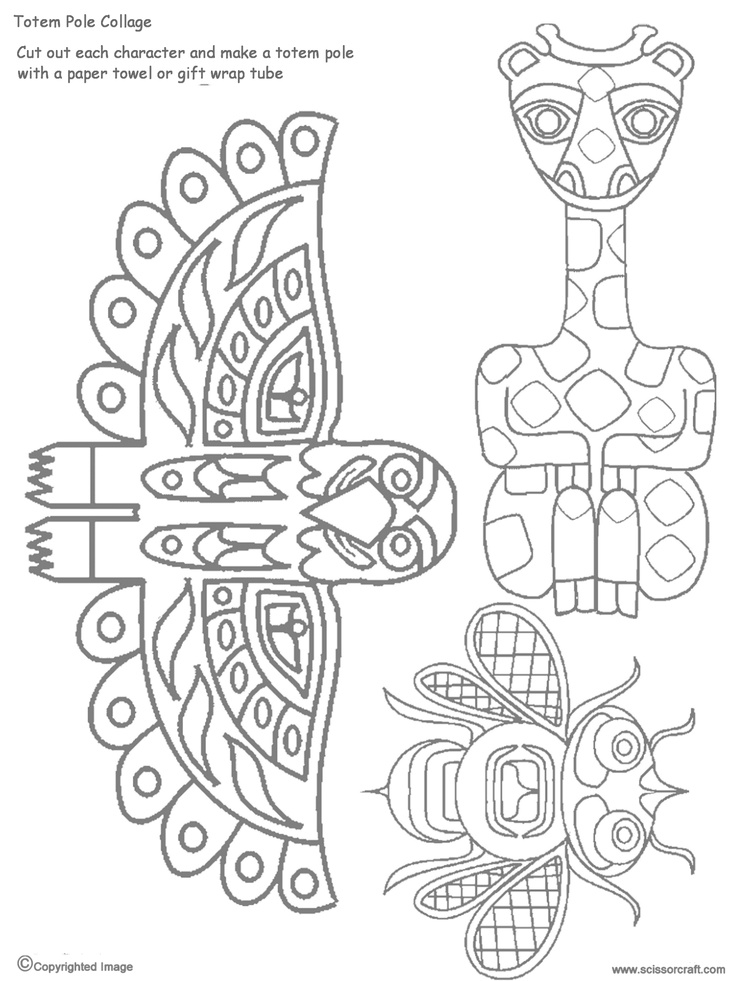 8 best images of printable animal head totem pole totem for Totem pole design template