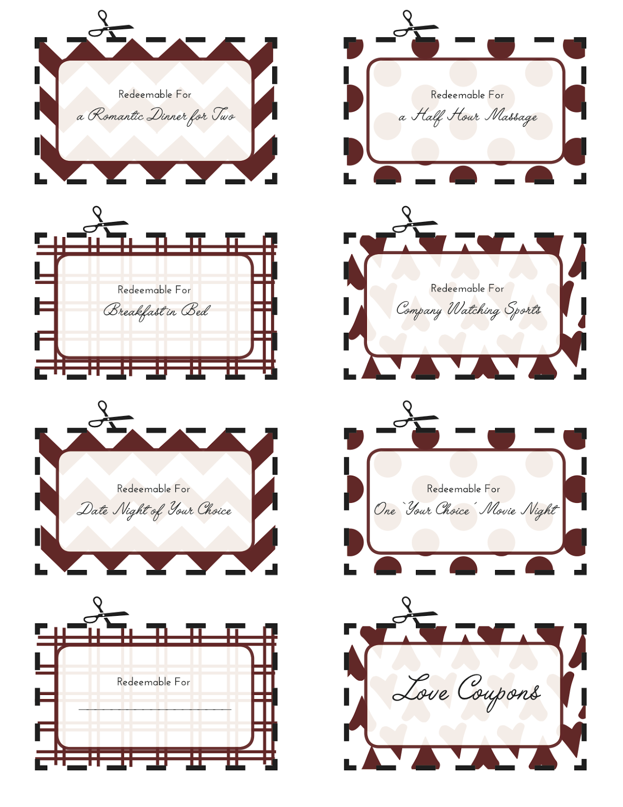 Love coupons for him printable free