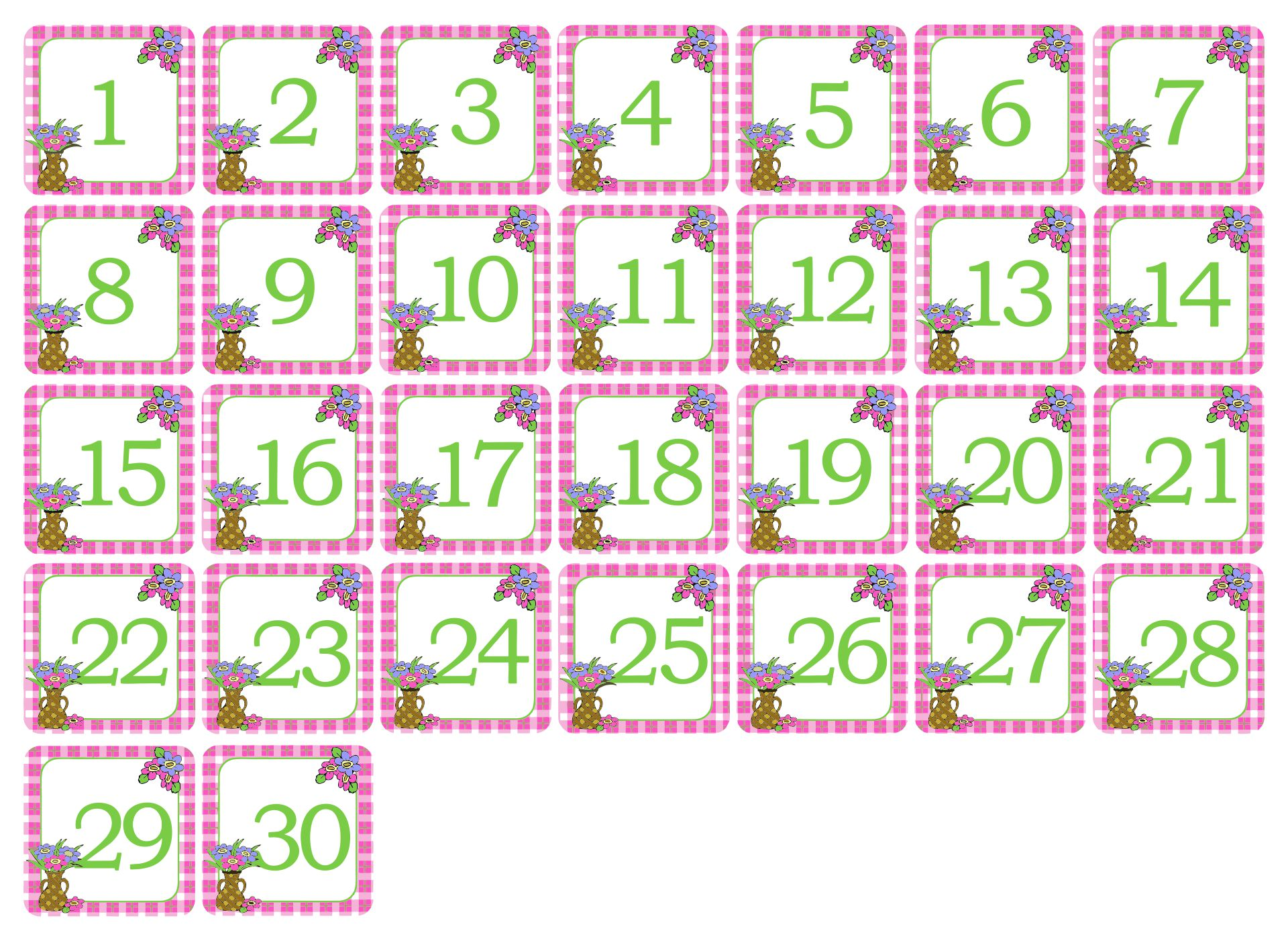 Numbers For Calendar Printables : Best images of printable spring calendar numbers free