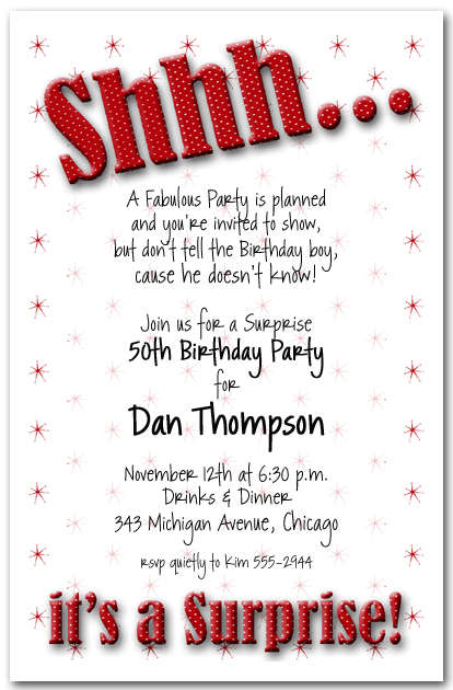 8 Images of Surprise 50th Birthday Invitations Printable