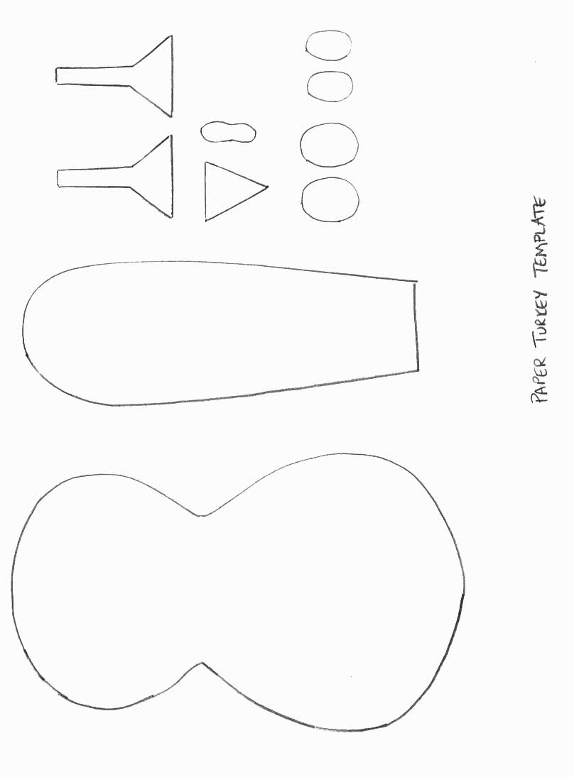 5 Images of Pop Out Printable Turkey Pattern