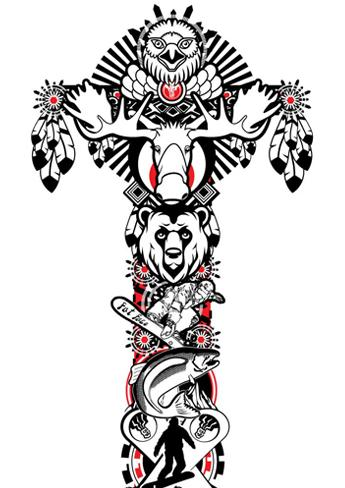 Totem Poles Designs 8 Best Images Of Printable Animal Head Pole