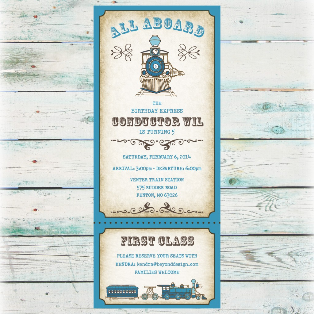 10 Images of Trains Printable Invitations For Boys