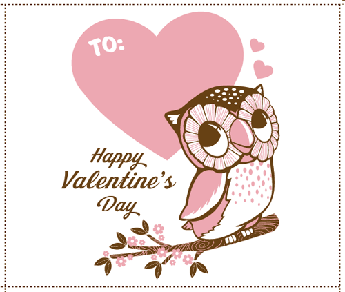 6 Best Images of Cute Owl Valentine Card PrintableFree