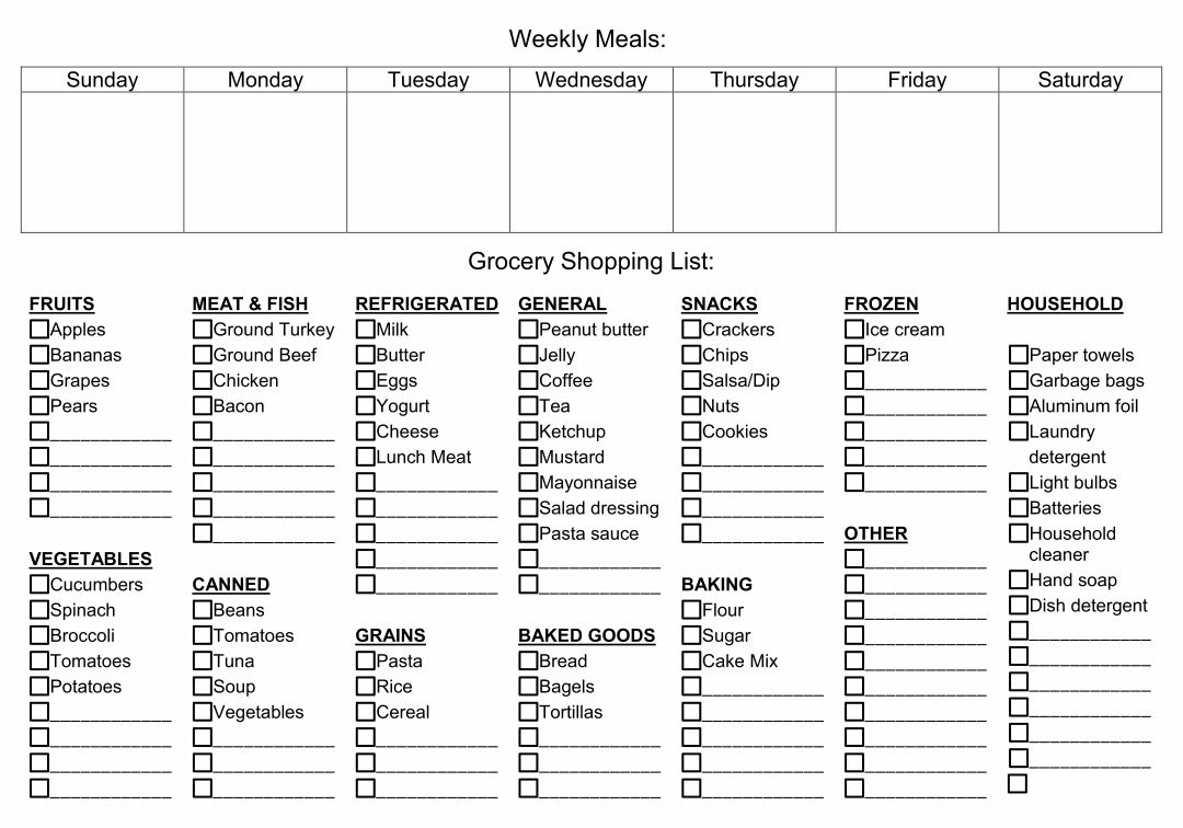 monthly meal planner template with grocery list - 7 best images of grocery list template printable amenable