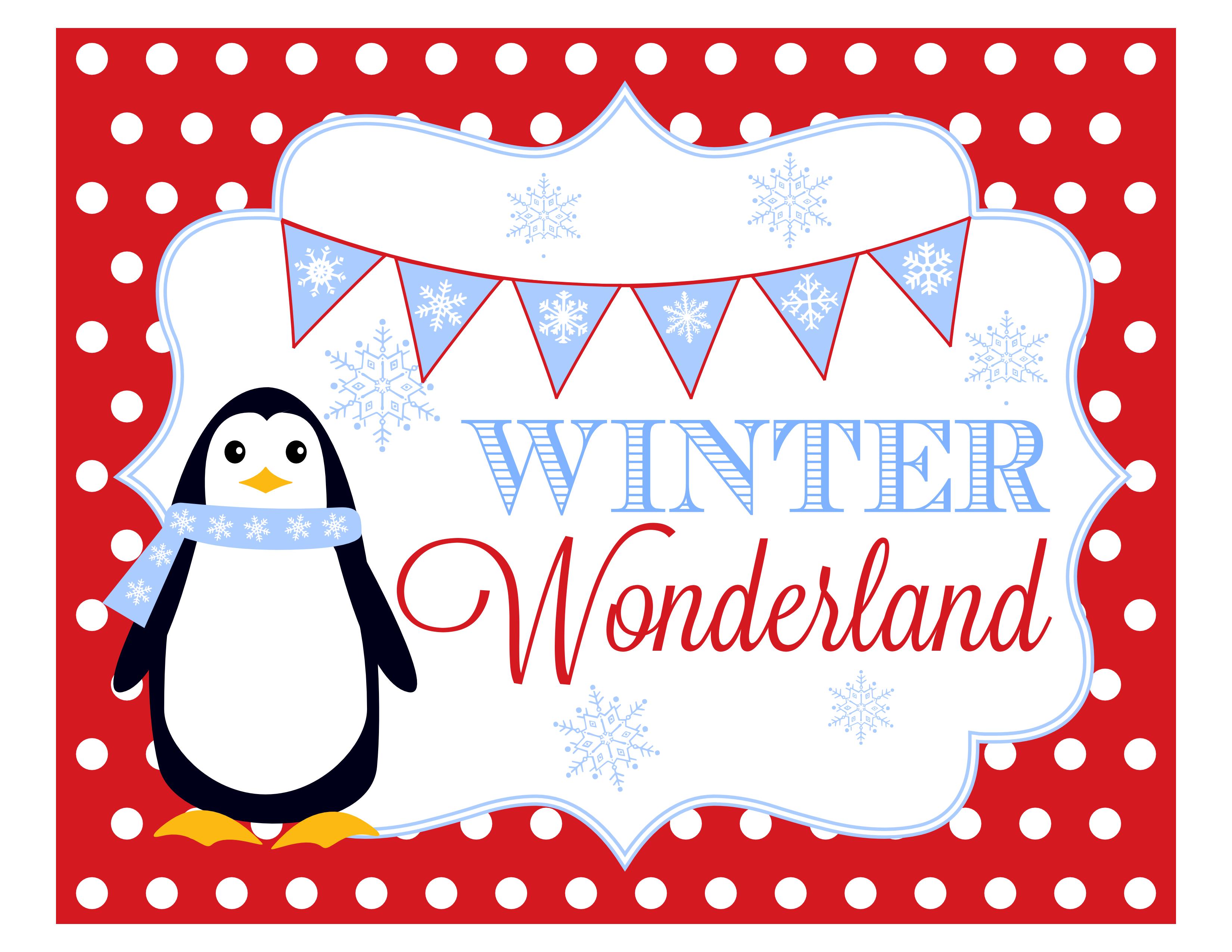 7 Images of Winter Wonderland Printables