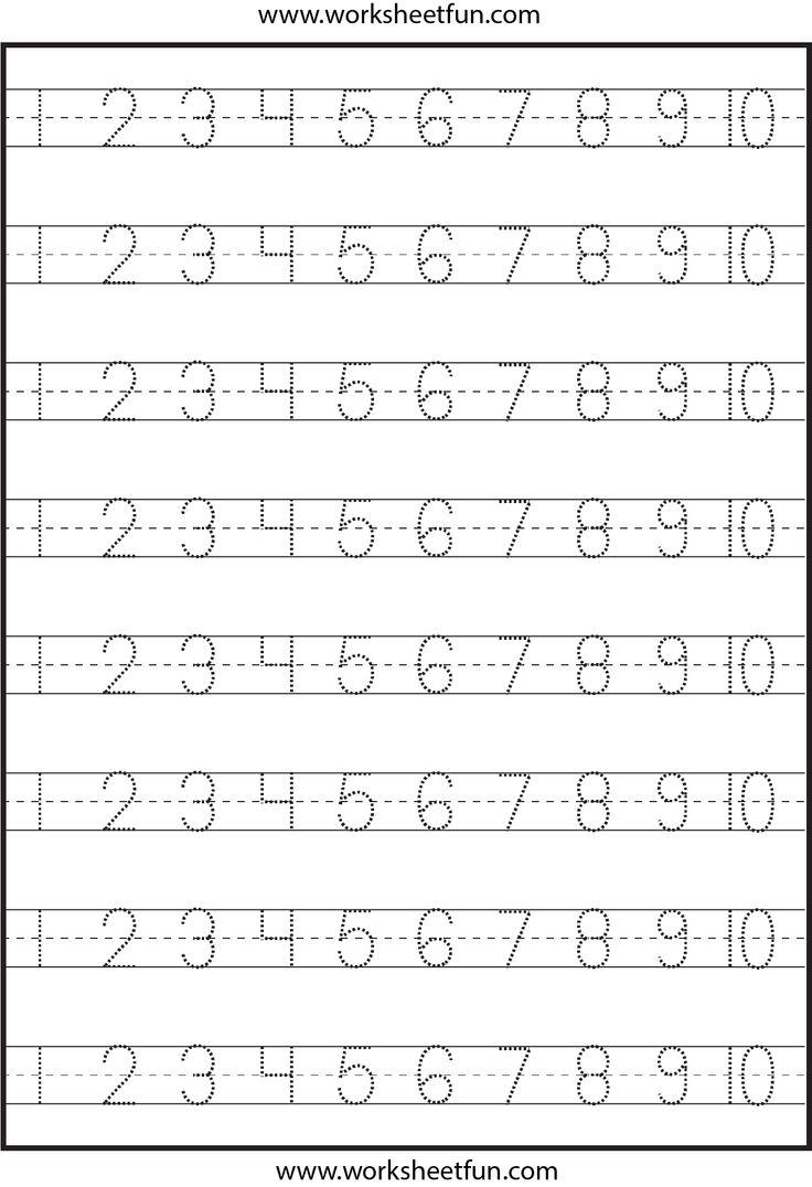 math worksheet : number tracing worksheets kindergarten  k5 worksheets : Tracing Worksheets For Kindergarten