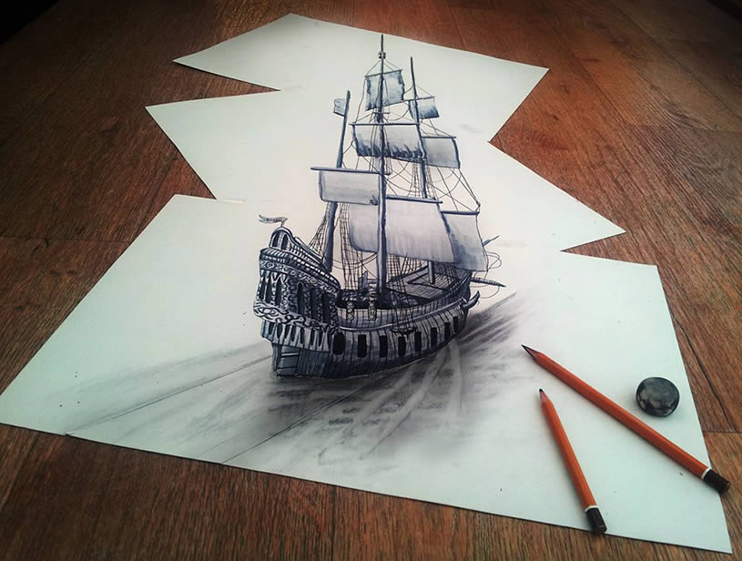 3D Illusions Drawings On Paper