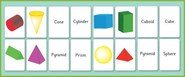 7 Images of Printable 3D Shape Flash Cards