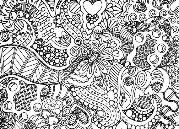 7 Images of Easy Zentangle Coloring Pages Printable