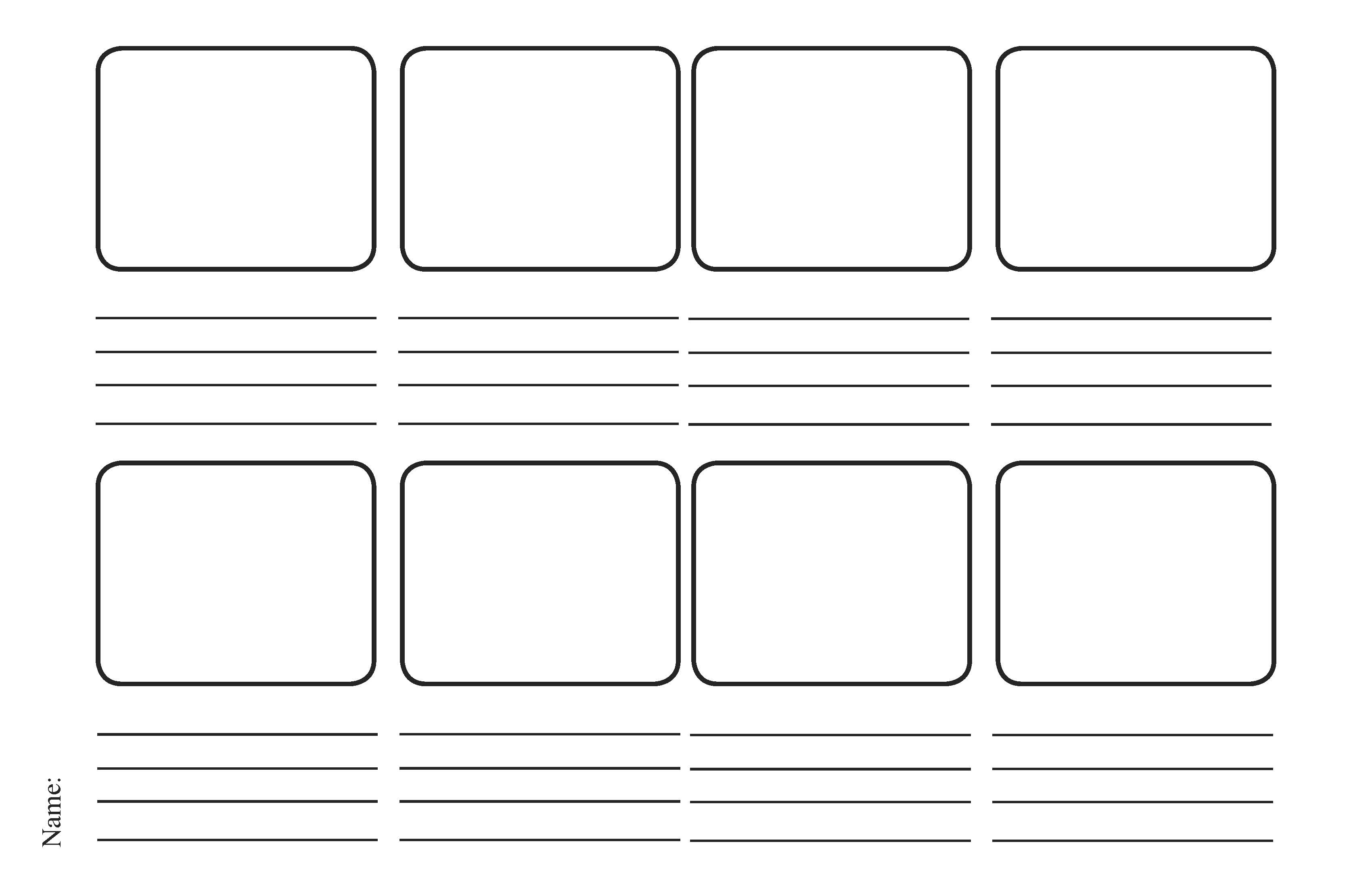 5 Images of Printable Blank Story Book Templates
